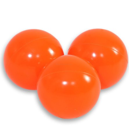 Plastic balls BOBONO for the dry pool 50pcs - dark orange